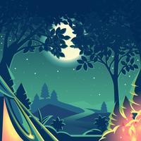 Natt Camping vektor