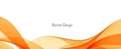 abstrakter moderner dynamischer stilvoller roter und gelber dekorativer Musterwellenbannerhintergrund vektor