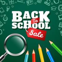 Tillbaka till skolans försäljning vektor