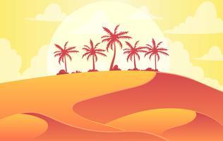 Vektor-Wüsten-Landschaftsillustration vektor
