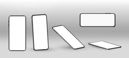 Vektor realistisches Smartphone-Modell. Smartphone-Rahmen mit leeren Anzeige isolierten Vorlagen