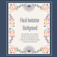 Blumeneinladungs-Hintergrund-Vektor vektor