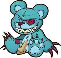böser Teddybär vektor