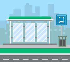 Bushaltestelle vektor
