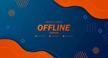 modern bakgrunds skärmsläckare offline strömspel orange vätska med memphis stil vektor