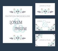 Einladungskarten Set Vektor