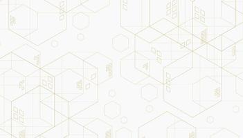abstraktes geometrisches Sechseck. Linien minimalistischer Hintergrund. vektor