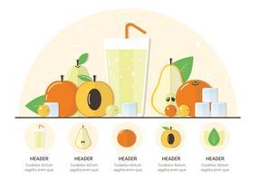 Vektor Samling Frukter Illustration