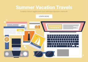 Vektor sommar resande designelement