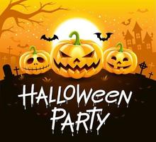 halloween fest vektorillustration. vektor