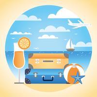 Vektor sommar semester design illustration