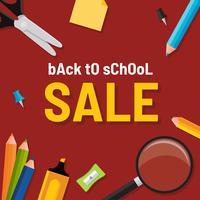Tillbaka till skolans försäljningsmall vektor