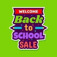 Tillbaka till skolans försäljningsaffisch vektor