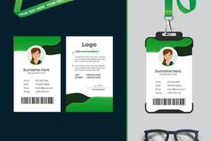 einfaches Design der ID-Kartenvorlage vektor