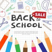 Zurück zu Schule-Verkaufs-Vektor-Hintergrund vektor