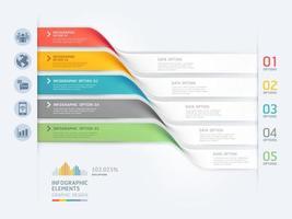 Vorlage für Business-Infografik-Elemente. Vektorabbildungen. Kann für Workflow-Layout, Banner, Diagramm, Nummernoptionen, Webdesign und Timeline-Vorlage verwendet werden. vektor