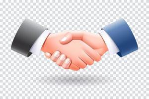 Geschäftsleute Handshake isolierte Vektorillustration. vektor