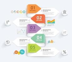 Vorlage für Business-Infografik-Elemente. Vektorabbildungen. Kann für Workflow-Layout, Banner, Diagramm, Nummernoptionen, Webdesign und Timeline-Vorlage verwendet werden.
