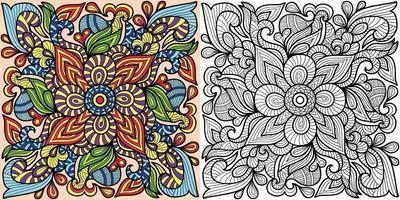 Doodle dekorative Malbuch Seite für Erwachsene und Kinder. vektor
