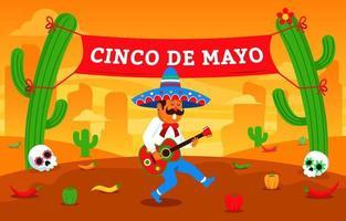 firar cinco de mayo-festivalen vektor
