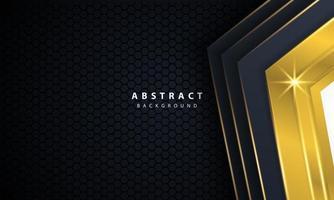 modern guldsvart bakgrund med 3D-överlappande lagereffekt. vektor