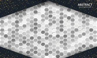dunkler abstrakter Hintergrund mit schwarzen Überlappungsebenen. Textur mit sechseckigem strukturiertem Hintergrund.
