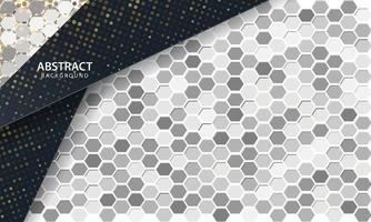 mörk abstrakt bakgrund med svarta överlappande lager. textur med hexagon texturerad bakgrund. vektor