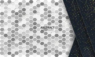 mörk abstrakt bakgrund med svarta överlappande lager. textur med hexagon texturerad bakgrund.