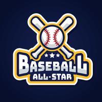 Baseball All Star Logo Vector