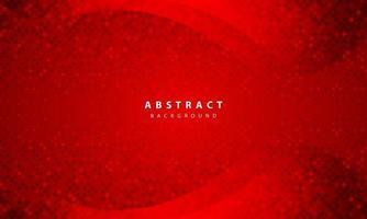 mörk abstrakt bakgrund med röda överlappande lager. realistisk konsistens med gyllene glitter prickar element dekoration.