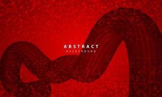 dunkler abstrakter Hintergrund mit roten Überlappungsebenen. realistische Textur mit goldener Glitzerpunkt-Elementdekoration.