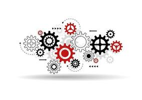 abstrakter Getriebemechanismus Hintergrund. Maschinenzahntechnik. Teamwork-Konzept. Vektorillustration vektor