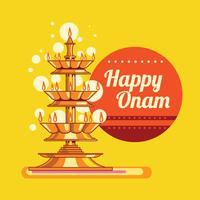 Glückliche Onam-Grußkarte vektor
