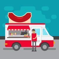 Lebensmittel-LKW-Vektor-Illustration