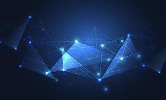 Internetverbindung, abstrakter Sinn für Wissenschaft und Technologie Grafikdesign. vektor