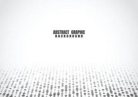 svarta punkter halvton mönster vit bakgrund. abstrakt futuristisk teknik bakgrund. vektor illustration