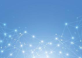 Internetverbindung abstrakter Sinn für Wissenschaft und Technologie Grafikdesign Hintergrund. Vektorillustration vektor