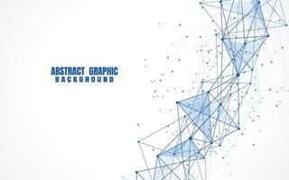 abstrakte Verbindungspunkte und Linien mit geometrischem Hintergrund. moderne Technologie Verbindungswissenschaft, polygonaler Strukturhintergrund. Vektorillustration vektor