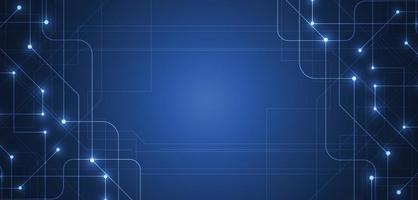 abstrakter technologischer Hintergrund mit Big Data. Internetverbindung, abstrakter Sinn für Wissenschaft und Technologie Analytik Konzept Grafikdesign. Vektorillustration vektor