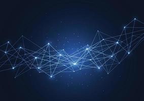Internetverbindung, abstrakter Sinn für Wissenschaft und Technologie Grafikdesign. Vektorillustration vektor