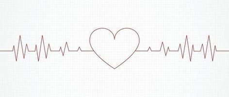 hjärtpuls linje för banner. vektor illustration