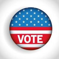 Präsidentschaftswahl USA Abstimmung Knopf Vektor-Design vektor