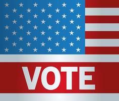 Präsidentschaftswahl USA Abstimmung mit Sternen Vektor-Design vektor