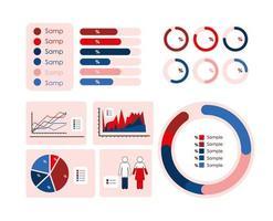 Infografik Diagramm Set Vektor-Design vektor