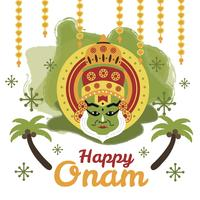 Glücklicher Onam-Hintergrund vektor