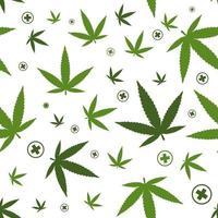 Marihuana-Muster. medizinisches Gerät. flache Vektorillustration lokalisiert auf weißem Hintergrund.
