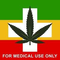 medizinisches Marihuana. Rastaman Flagge. flache Vektorillustration