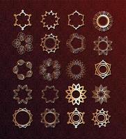Gold Mandala Set vektor