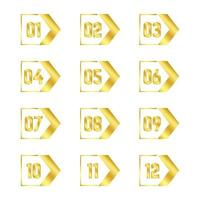guld pil punkt samling vektor