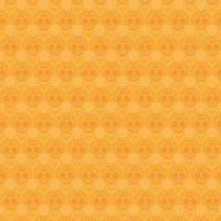 mexikanisches Schädelmuster auf einem orange Hintergrundhintergrundvektordesign vektor